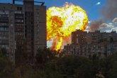 Волгаградтағы жанармай құю бекетінде болған жарылыс ВИДЕОға түсіп қалды