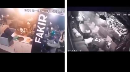 Нұр-Сұлтан қаласындағы мейрамханалардың бірінде болған атыс ВИДЕОға түсіп қалды