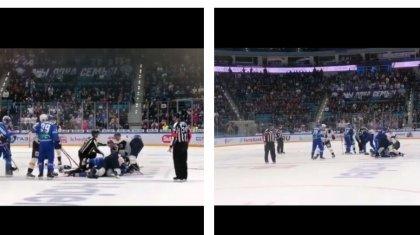 «Менсінбей қарамау керек»: хоккей ойынының соңы жаппай төбелеске ұласты (ВИДЕО)