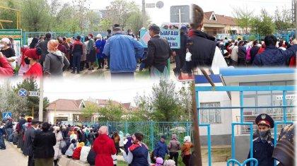 «Кеше көршілерім тамақ берді»: 42500-ді ала алмай сандалған жұрт «Нұр Отанның» алдында құлап жатыр