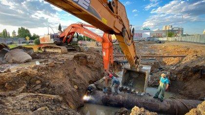 В Нур-Султане ведется строительство трех крупных ливневых канализаций (ФОТО)