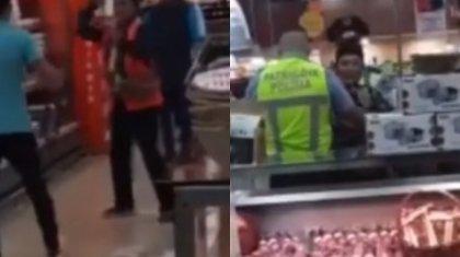 Елордалық әйел супермаркеттің астаң-кестеңін шығарды (ВИДЕО)