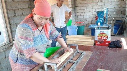 Жетісайлық келіншек кір сабын өндірісінен 500 мыңға жуық қаражат тауып отыр