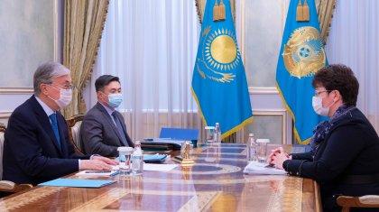 Тоқаев бюджеттің атқарылуын бақылау жөніндегі есеп комитетінің төрағасын қабылдады