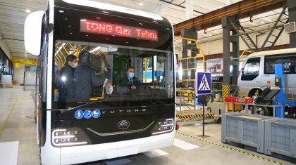 Үкімет басшысы Саран қаласындағы автобустар шығаратын зауыттың ашылу рәсіміне қатысты
