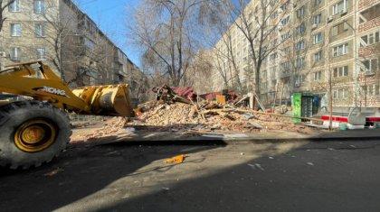 Алматы қаласында рұқсатсыз салынған үй сүрілді