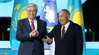 «Мәртебе сізге тиесілі»: Тоқаев Назарбаевқа Ассамблеяның құрметті төрағасы болуды ұсынды