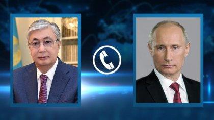 Тоқаев Ресей Президентімен Ауғанстандағы жағдайды талқылады