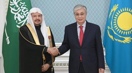 Мемлекет басшысы Сауд Арабиясы Корольдігі консультативтік кеңесінің төрағасын қабылдады