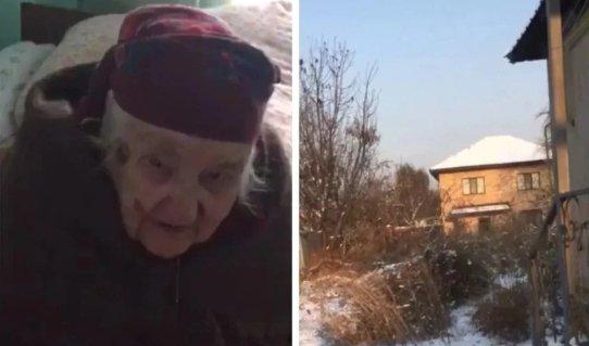 Алматыда 91 жастағы соғыс ардагері үйін келіні тартып алғалы жатқанын айтты (ВИДЕО)