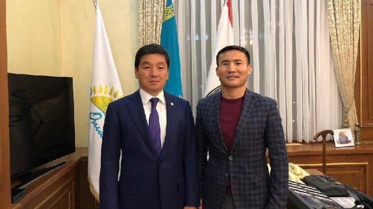 Алматы әкімі Бауыржан Байбек Қанат Исламды қабылдады