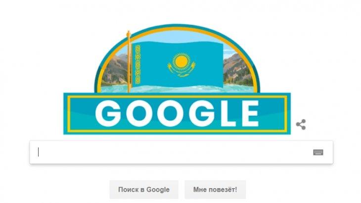 Google Қазақстанның Тәуелсіздік күніне орай басты парақшасын безендірді
