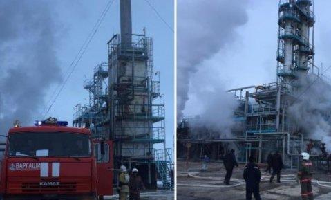 Жамбыл облысында мұнай базасынан шыққан өрттен екі адам зардап шекті