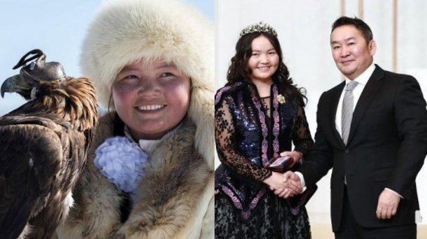 Бүркітші қыз Айшолпанды Моңғолия президенті «Алтан гадас» орденімен марапаттады