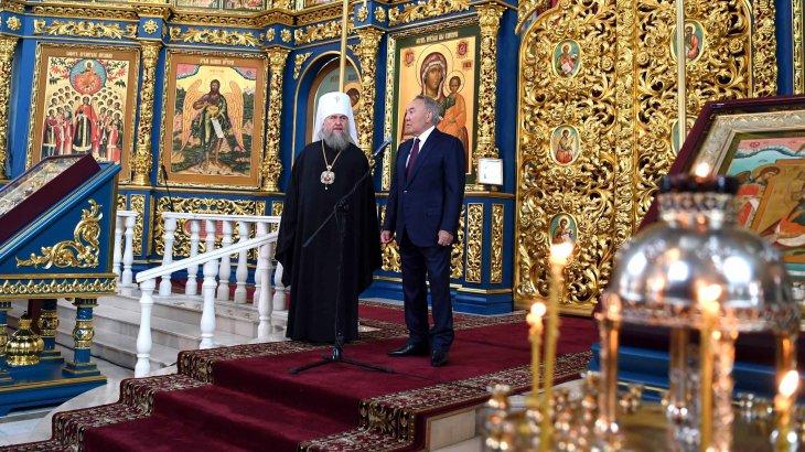 Нұрсұлтан Назарбаев әулие Успен кафедралдық соборына барды