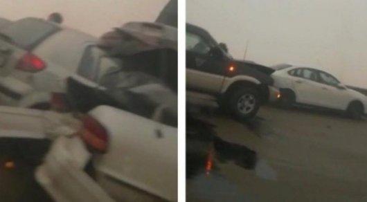 Алматы – Қапшағай тас жолында 30 автокөлік соқтығысты (ВИДЕО)