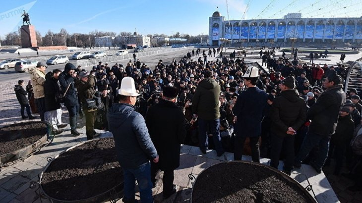 Қырғыздар Қытай азаматтарына азаматтық берілмеуін талап етіп, митингке шықты