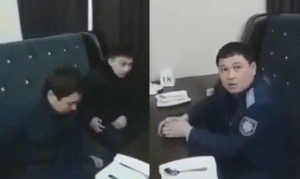 Түркістан: желіде жұмыс уақытында мейрамханада отырған прокуратура қызметкерлерінің видеосы жарияланды (ВИДЕО)