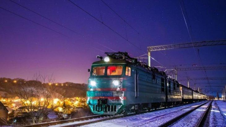 Из-за мороза в Астане отменили поезд в Кызылорду и обратно