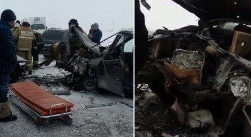 Қарағандыда болған жол апатында екі жүргізуші көлікте қысылып қалған (ВИДЕО)