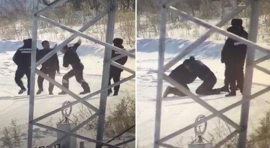 Пятерых полицейских уволили после драки в Астане (ВИДЕО)