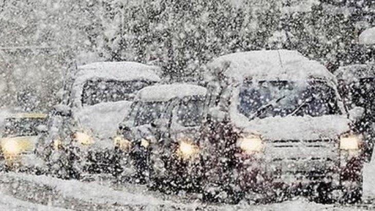 Из-за метели закрыта трасса Астана-Павлодар