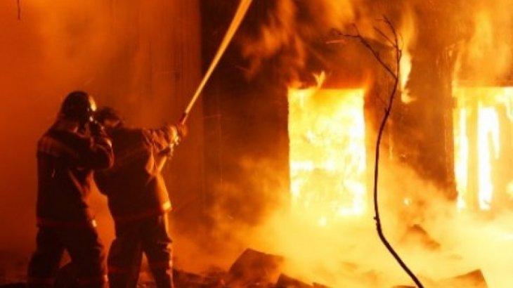 Охранник погиб во время пожара в Костанайской области