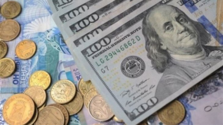 Тенге укрепился до 374 за доллар на бирже