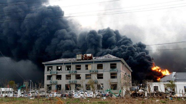 Қытайдағы химиялық зауыт жарылып, 64 адам қаза тапты