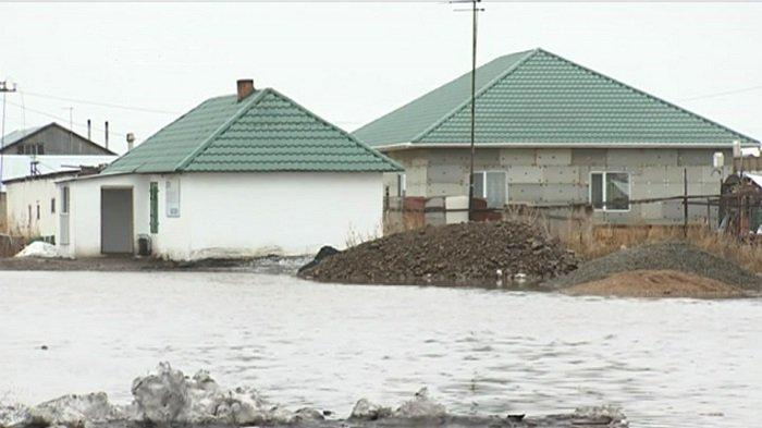 Нұр-Сұлтан маңындағы ауылдар су астында қалды