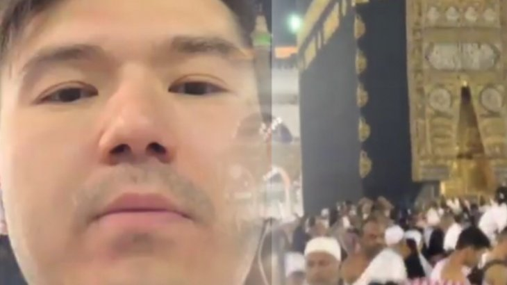 Көптен көрінбей кеткен Айсұлтан Назарбаевтың қажылықта жүрген видеосы жарияланды (ВИДЕО)
