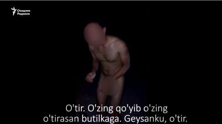 Өзбекстанда 4 жігіт гейді ұстап алып, оған қорлық көрсеткен (ВИДЕО)