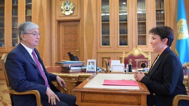 «Балаларға көмек көрсетуге тырысамыз»: Аружан Саин президент Тоқаевпен кездесті