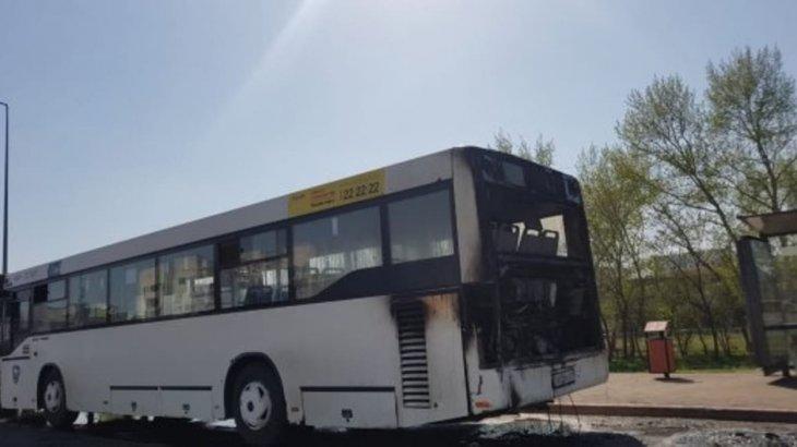 Нұр-Сұлтанда автобус өртенді