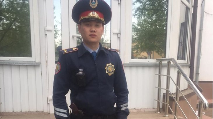 Көкшетаулық полицей эпилепсиямен ауыратын жігіттің өмірін құтқарып қалды