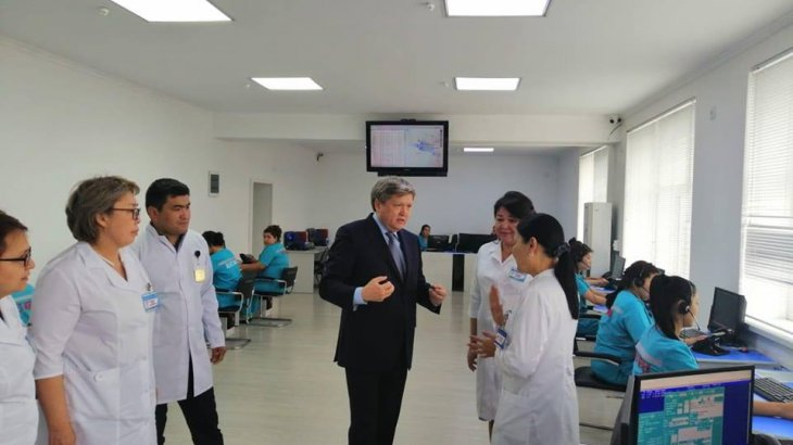 Шымкент: Денсаулық сақтау басқармасының басшысы Жедел медициналық жәрдем көрсету станциясының жұмысымен танысты