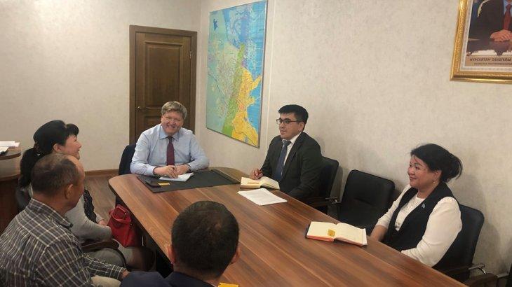 Шымкент: Денсаулық сақтау басқармасының басшысы ҚР Медиациялар палатасының басшысын қабылдады