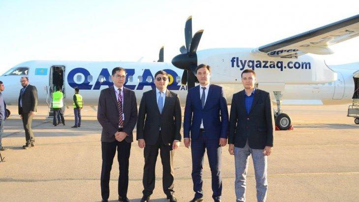 Qazaq air әуекомпаниясының жаңа ұшағы Шымкентке келіп қонды