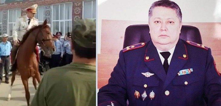Сыйға ат мінген генерал оқиғасы: Атырау облыстық полиция департаментіне жаңа басшы келді