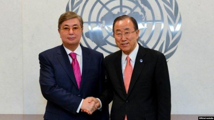 Пан Ги Мун Тоқаевқа: «Сіздің дипломатияны терең түсінуіңіз ел дамуына ықпалын тигізеді»
