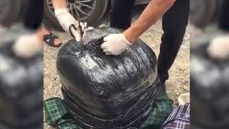 21 кг 400 грамм: Таразда есірткі тасымалдушы ұсталды
