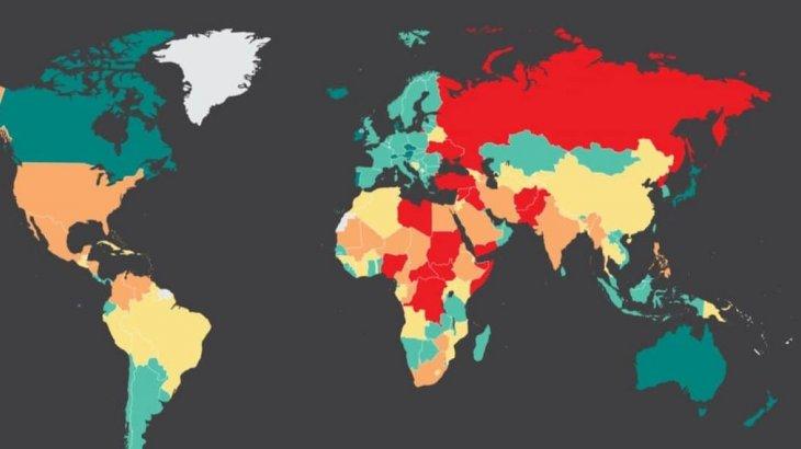 Қауіпсіз елдер тізімі жарияланды: Қазақстан 64-орында тұр