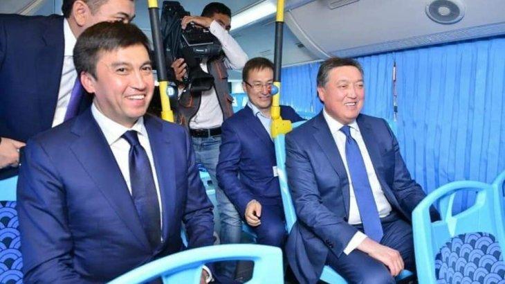 """Асқар Мамин """"Shymkent bus"""" автобус паркінің жұмысымен танысты"""