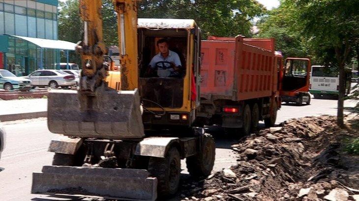 Шымкент: Ахмет Байтұрсынов көшесіндегі құрылыс жұмыстары қараша айында аяқталады