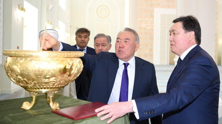 Назарбаев елордадағы жаңа мешітке барды