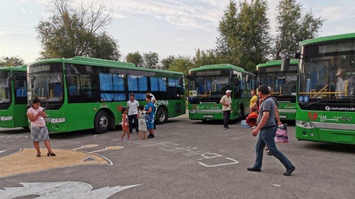 Арыстықтарды Шымкенттен 135 автобус тасымалдауда