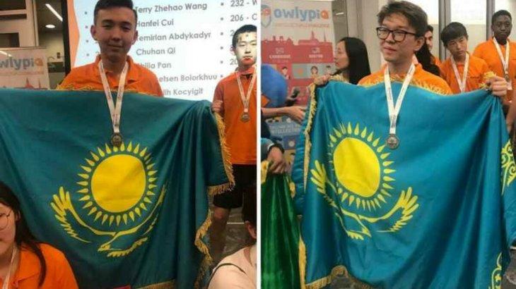 Алматылық оқушылар АҚШ-та өткен олимпиададан жүлдемен оралды