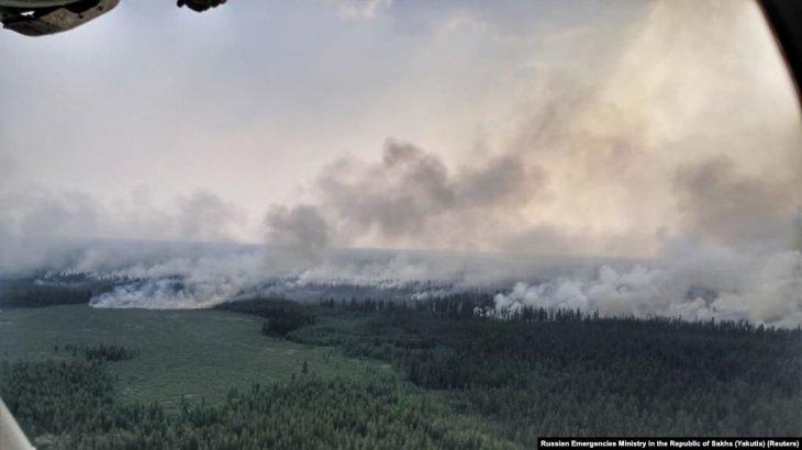 Сібірдегі орман өрті: 13 мың аң жапа шеккен болуы мүмкін