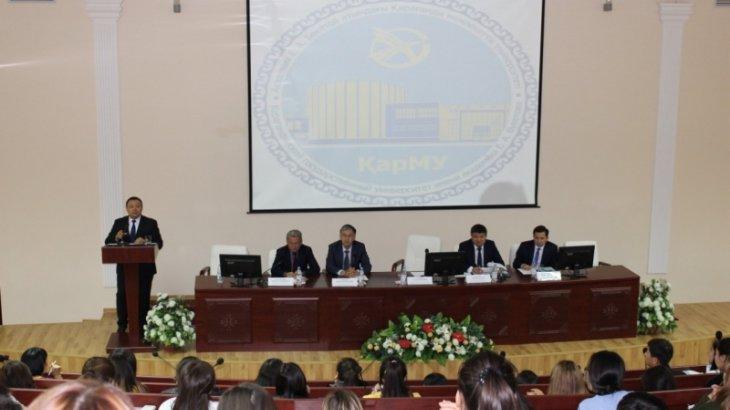 Қарағанды облысы әкімінің орынбасары ҚарМУ студенттеріне дәріс оқыды