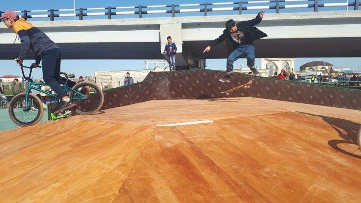 Атырау қаласының 379 жылдығына орай «скейт парк» ашылды